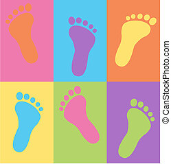 seamless foot pattern