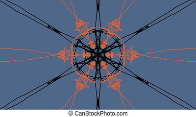 moving kaleidoscope of different shape. Looping animation
