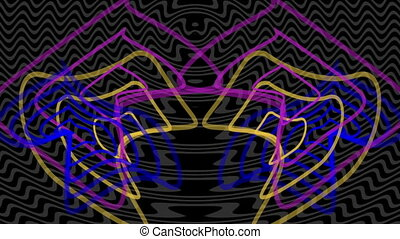 shape like radio waves radiating out from the center