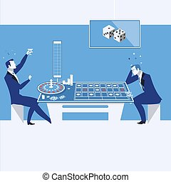 Casino, gambling concept vector illustration in flat style