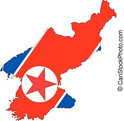 North Korea map - map of North Korea with the image of the...