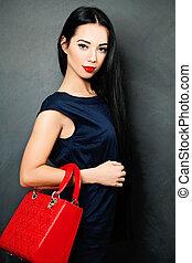 Fashion Brunette Woman. Vogue Style portrait