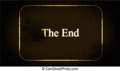vintage \'the end\' footage