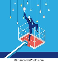 Reaching a goal in business concept vector illustration