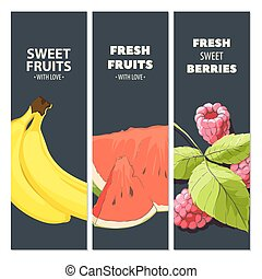 Bright fruit cards