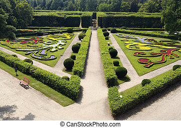 "Flower garden in Kromeriz - Part of the ""Flower garden"" -..."