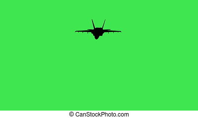 Airplane in flight - green screen - Animation of Airplane in...