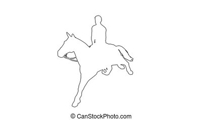 man on a horse galloping - animation-man on a horse...