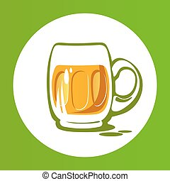 green beer-21 - Beer mug isolated on white background. Saint...