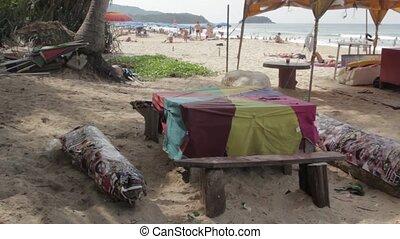 Holidays in Phuket - People sunbathing on the beach in Karon