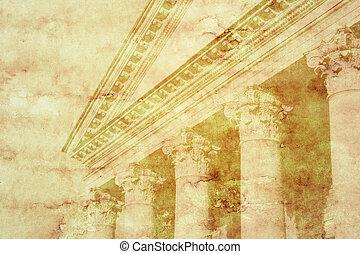 Ancient columns - Ancient background, columns