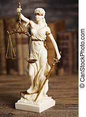 Statue of justice, burden of proof, law theme - Statue of...
