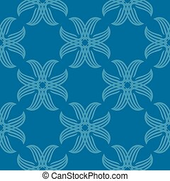 Seamless abstract vintage blue pattern