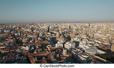 Aerial shot of Valencia, Spain - Aerial view of Valencia...