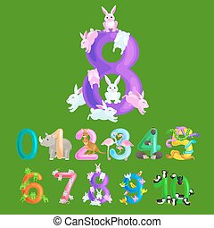 ordinal numbers for teaching children counting with the...