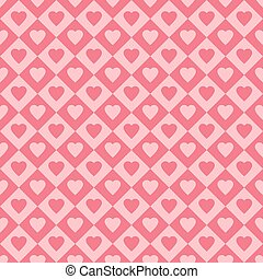 Seamless pattern with hearts, vector illustration