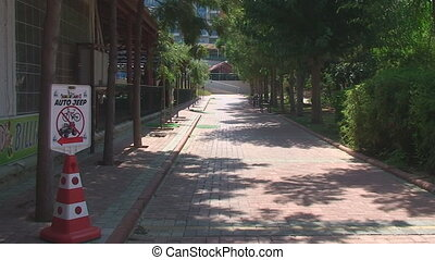 alley lined with stone which leads to the hotel - Roads in...