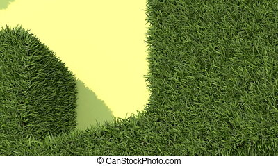 Shaped grass like house