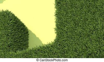 Shaped grass like house - animation-Shaped grass like house
