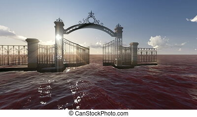 Gate to heaven made in 3d software