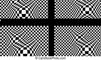 The black cross on the black and white basis with effect...