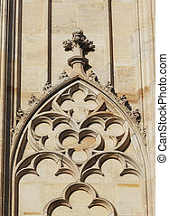 Gothic arch - Architectural detail - Gothic window on the...