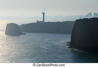 The Lighthouse of Ponta do Altar (Lagoa, Portugal). - The...