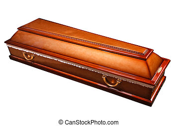 coffin casket with brass handles