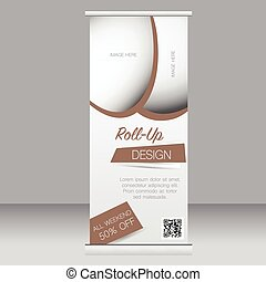 Roll up banner stand template. Abstract background for...