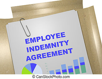 Employee Indemnity Agreement - business concept - 3D...