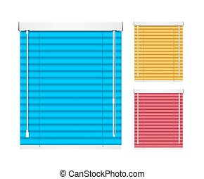 Realistic Color Window Jalousie Roller Shutters Blind....