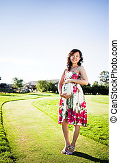 Pregnant asian woman - A portrait of a pregnant asian woman...