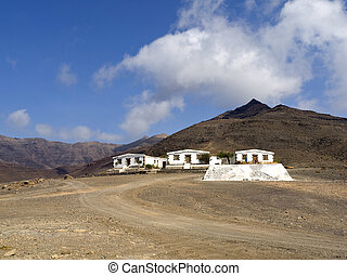 Desert Villas in Fuerteventura scenics, near the Cofete...