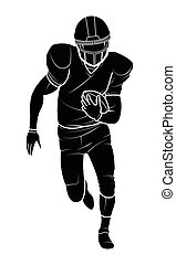 vector american football players silhouette. - football...