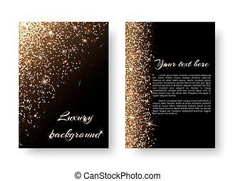 Bling background with golden light - Glimmer background with...