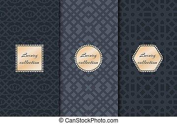 01219_v_Set of luxury vintage backgrounds