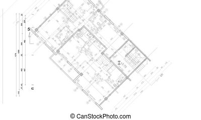 abstract architecture background: blueprint house plan with...