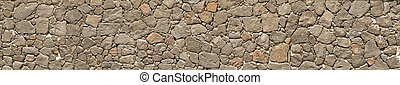 Big Panorama of a stones wall