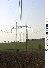 High voltage wiring in the field