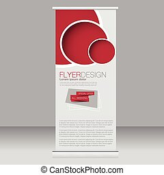 Roll up banner stand template.