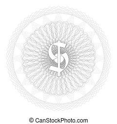 background intricate pattern around dollar