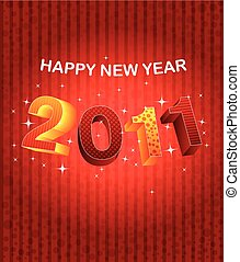 background Happy new year 2011. Vector