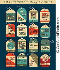 Vintage discount labels set