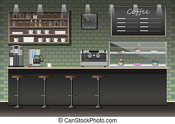 illustration design of coffee shop,coffee...