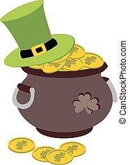 Vector illustration Saint Patricks Day card - Saint Patricks...