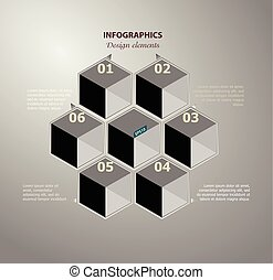 Abstract infographics. Vector data template of cyclical...