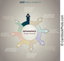 Abstract infographics. Vector data pattern of cyclical...