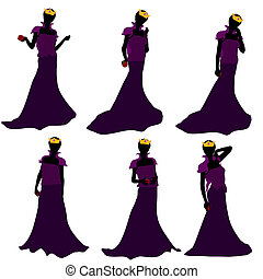 African American Evil Queen Silhouette Illustration -...