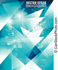 abstract high-tech background with bokeh. vector
