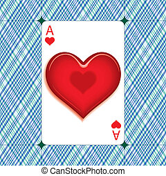 Heart on ace - Heart on the Ace of hearts for the Valentines...